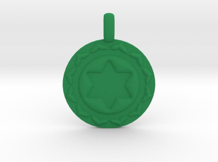 ANAHATA HEART Chakra Symbol Pendant 3d printed