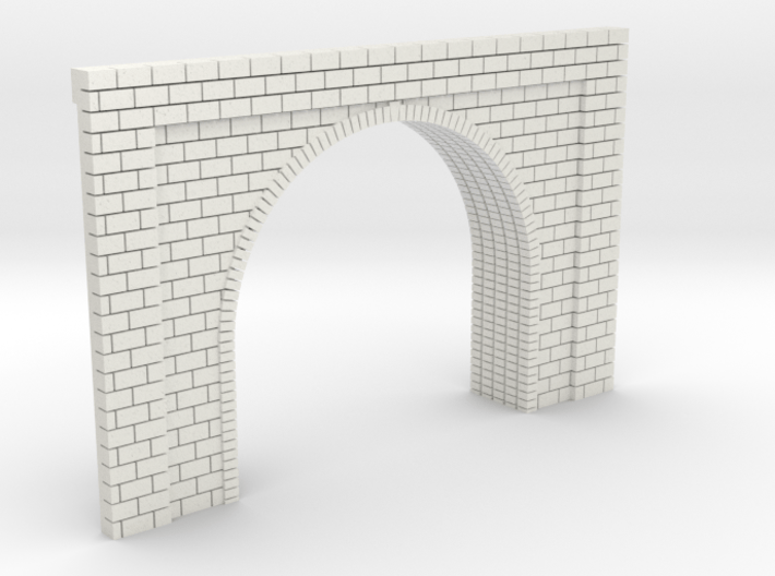 N Scale Tunnel Entrance Single Track 1:160 3d printed