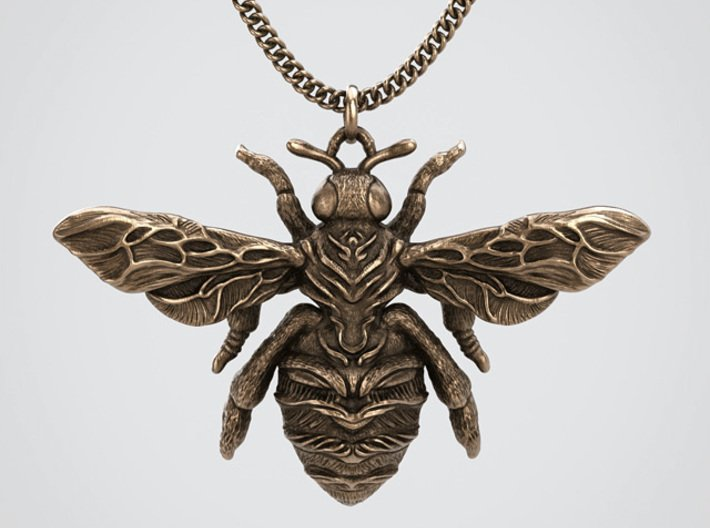 The Mystical Bee - Pendant 3d printed