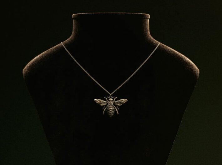 The Mystical Bee - Pendant 3d printed Custom antique finish