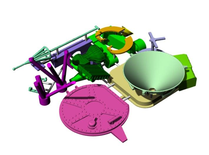 FUD ascent stage external details 2 3d printed