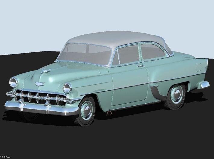 1954 Chevy 2 Door 210 (2) N Scale 3d printed Render