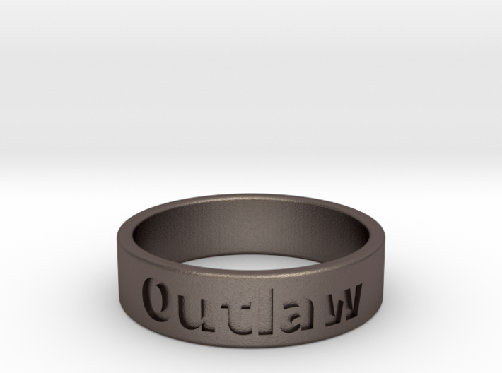 Outlaw Mens Ring 22.2mm Size13 3d printed