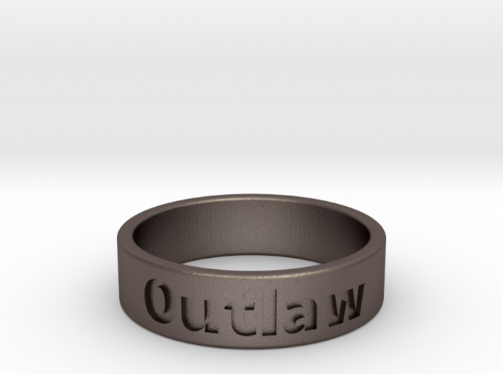 Outlaw Mens Ring 19.8mm Size10 3d printed