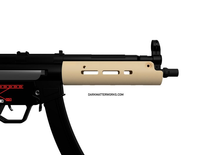 Handguard for ICS MP5 airsoft SMG 3d printed