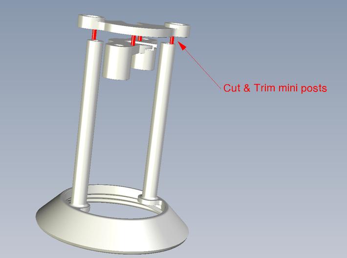 B-695-3U Classic Stern Bumper Parts (3 Piece Kit) 3d printed