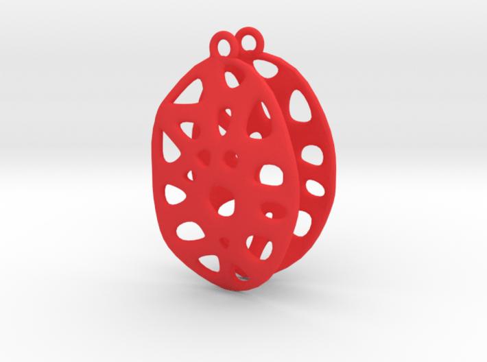 Exteriority Earrings 3d printed