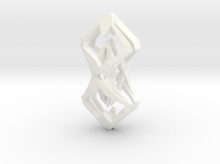 HEART TO HEART Sharp, Pendant 3d printed