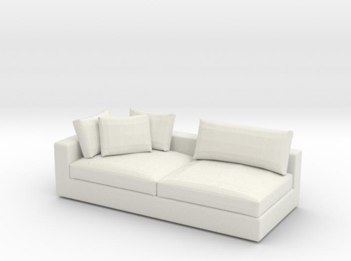 Miniature 1:48 Sofa 3d printed