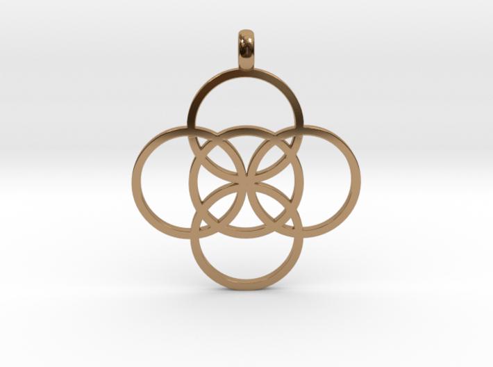 FIVE FOLD Symbol Jewelry Pendant 3d printed