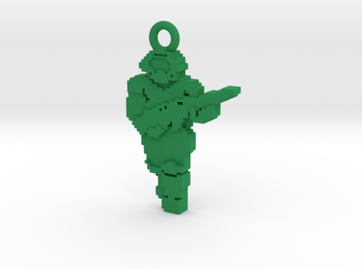 PixFig: Doom - Space Marine Keychain 3d printed