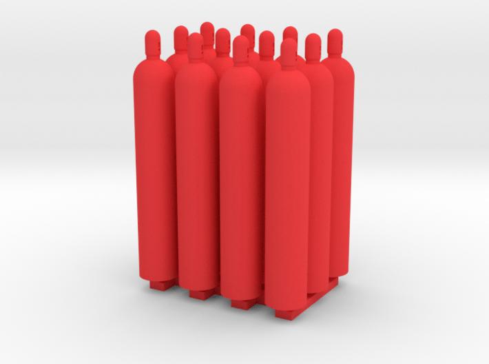 1:50 Gas Cylinders Pack of twelve 3d printed
