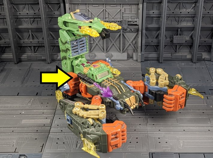 TF Energon Scorpion Tank Gun Seige Compatible 3d printed