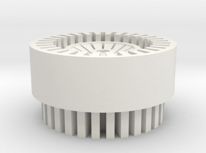 Finned Thin Walled Blade Plug 3d printed
