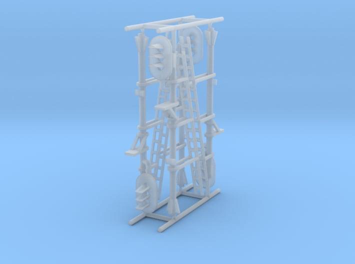N NS hoog lichtsein RECHTS zonder P, 4 stuks 3d printed