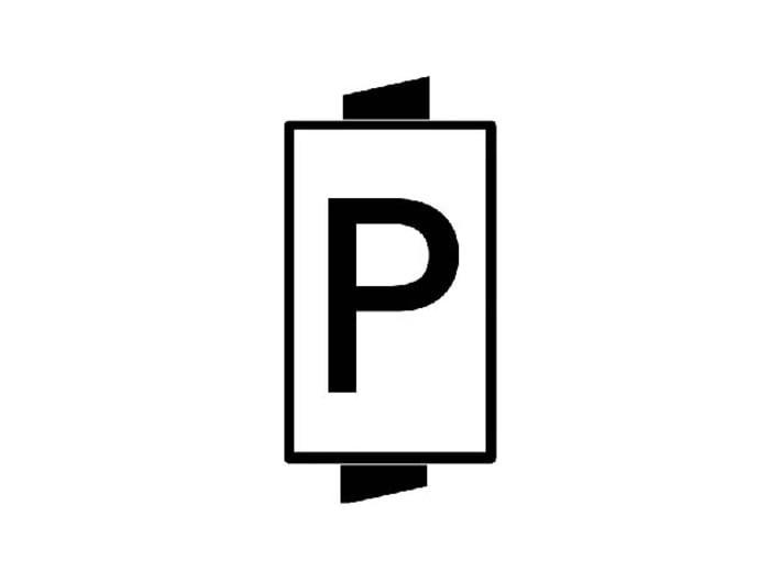 N NS hoog lichtsein RECHTS met P, 4 stuks 3d printed P-sein, géén bediend sein