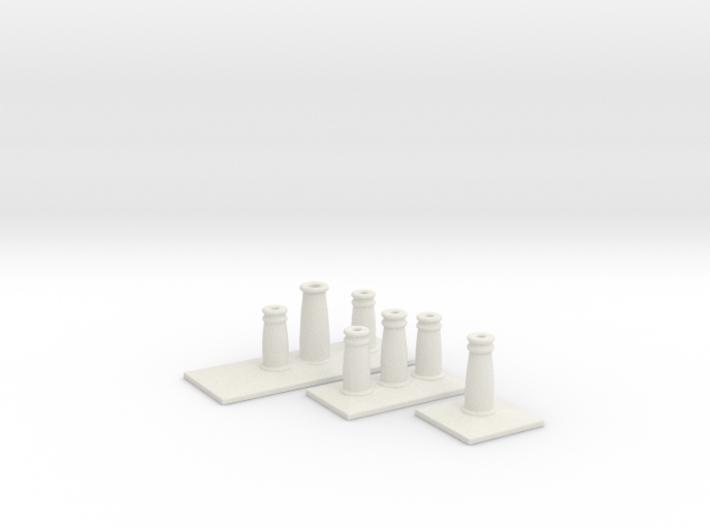 T012 SS Chimney Pots - 4mm 3d printed