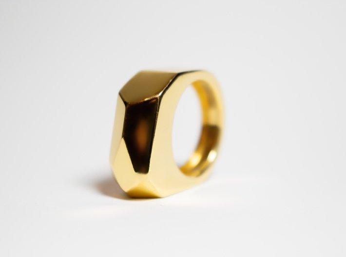 Gold Ring: 14k gold – statement, abstract 3d printed