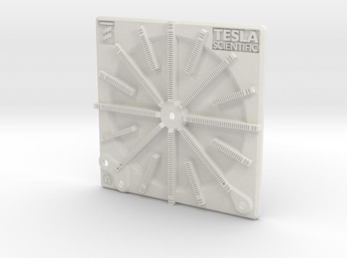 Tesla Flat Spiral Coil Base A - 140mm 3d printed