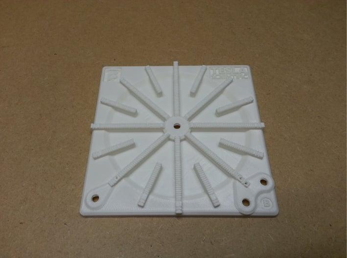 Tesla Flat Spiral Coil Base B - 140mm 3d printed Coil Base B