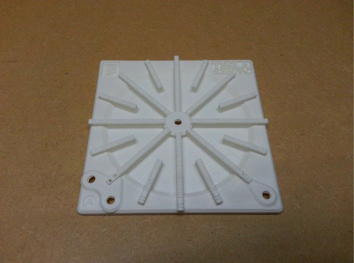 Tesla Flat Spiral Coil Base A - 140mm 3d printed Coil Base A
