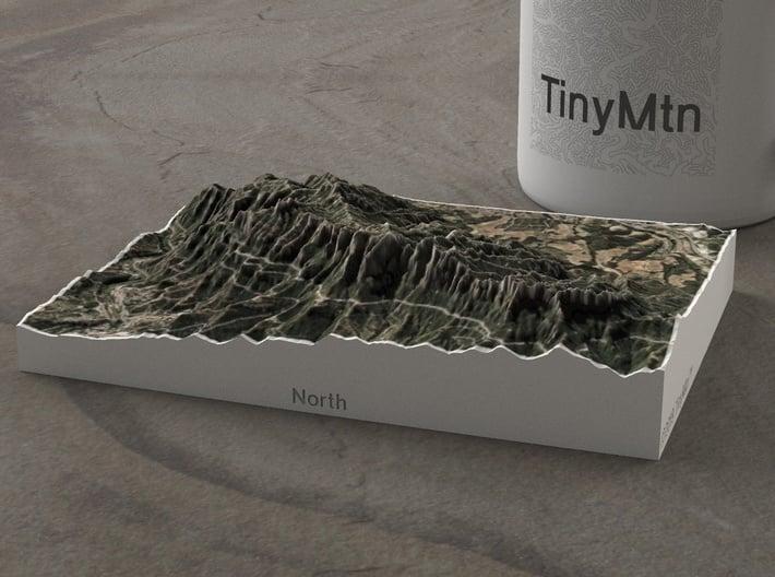 Montserrat, Catalonia, Spain, 1:50000 3d printed