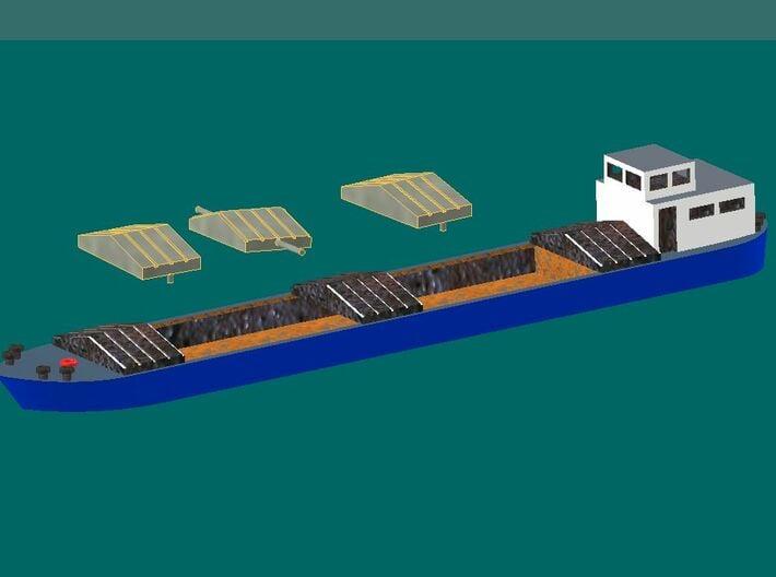 Binnenschiff (1/220) 3d printed