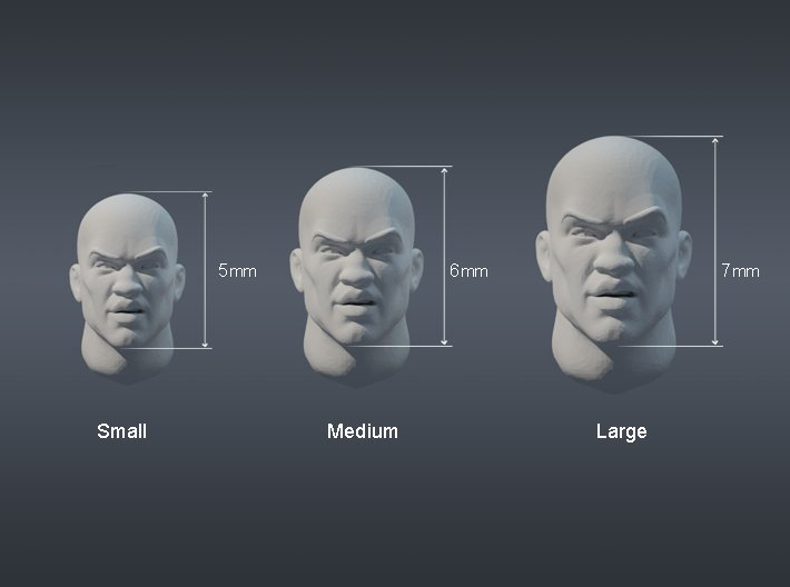 Warfaces 2 - Caucasian Male 3d printed