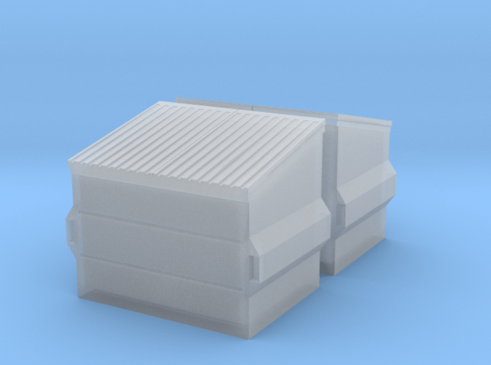 Dumpster (2 pieces) 1/87 3d printed