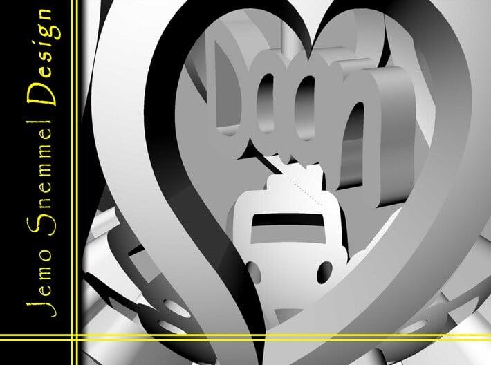 You R in MY heart CAR 4cm Daan 3d printed