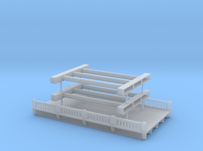 Highway Overpass 1 Z scale 3d printed 2 lane Overpass Z scale