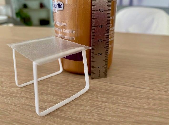 Table legs Trapeze (pair). 1:12, 1:24 3d printed 1:24 printd in white premium versatile plastic
