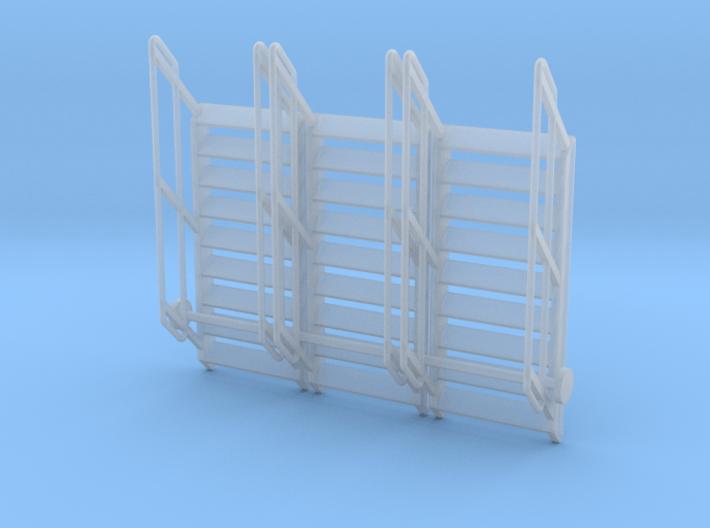 1:64 3x Stairs 9 3d printed