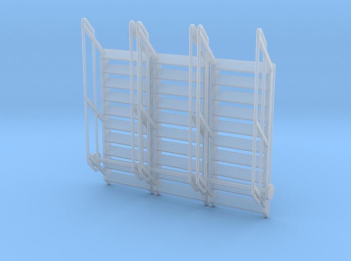 1:64 3x Stairs 10 3d printed