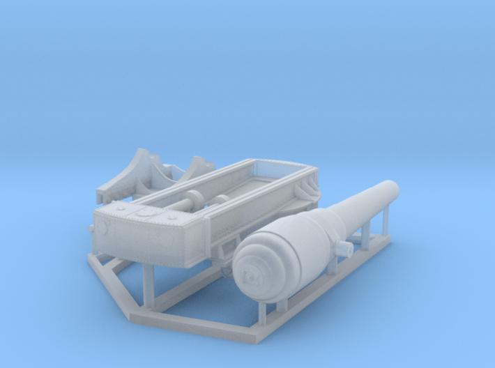 Armstrong 100-Ton Gun, 1/150 scale 3d printed