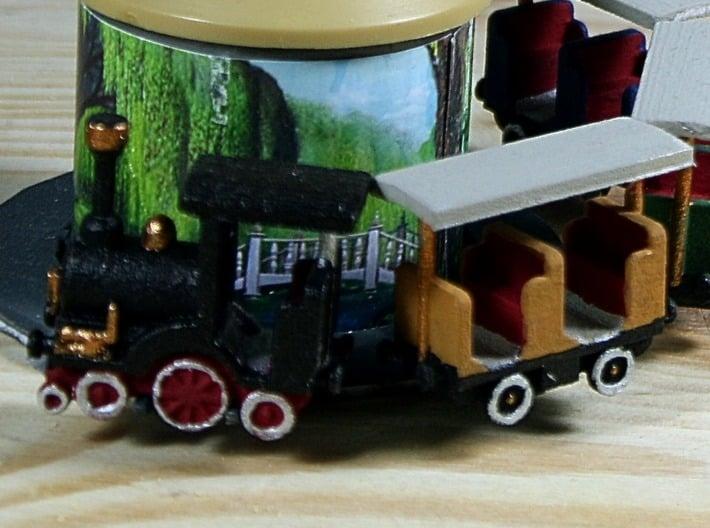 Kindereisenbahn für Space Train 1:87 (H0 scale) 3d printed bemalt - painted