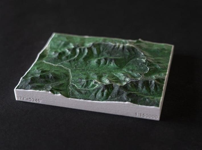 Pemi Loop Trail, New Hampshire, USA, 1:150000 3d printed