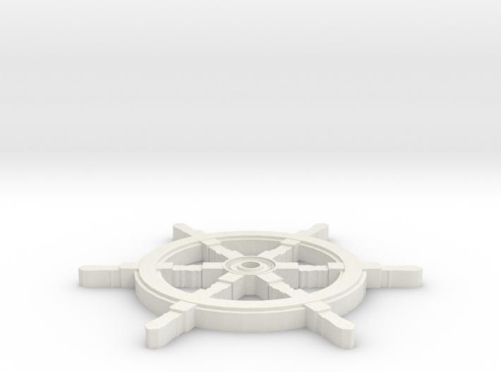 Pirate Ship Wheel Coaster 3d printed