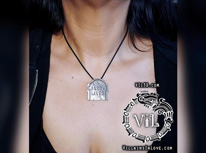 Jason Lives TOMBSTONE Pendant ⛧ VIL ⛧ 3d printed SMALL