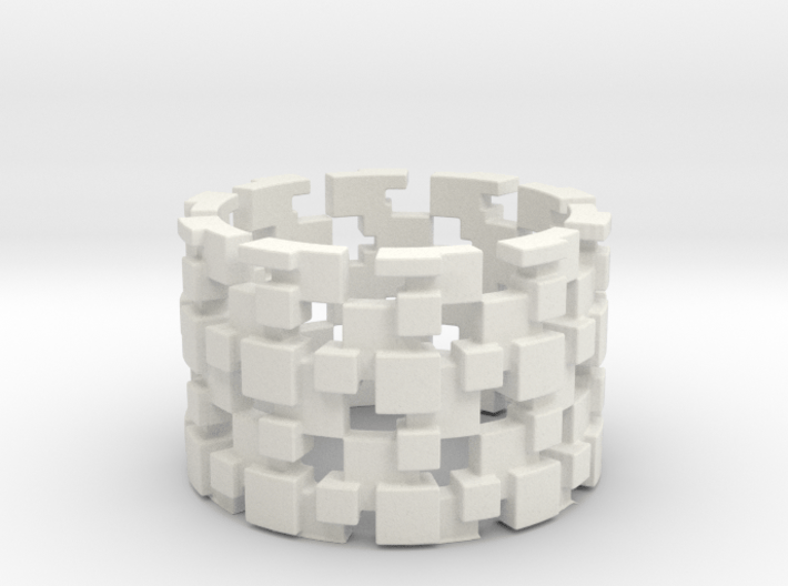 Borg Cube Ring Size 8 3d printed