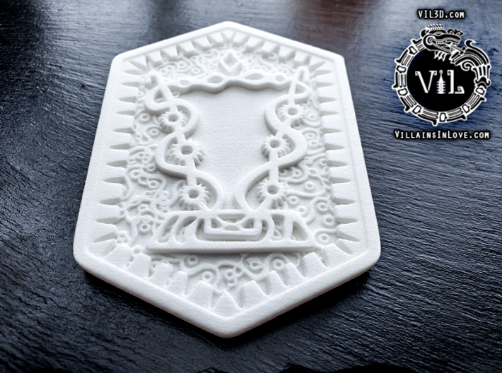 FULL SIZE Damballa Amulet ⛧ VIL ⛧ 3d printed
