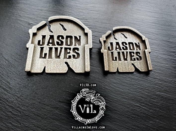 Jason Lives TOMBSTONE Pendant ⛧ VIL ⛧ 3d printed Large & Small