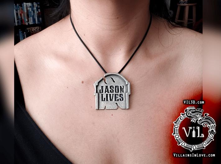 Jason Lives TOMBSTONE Pendant ⛧ VIL ⛧ 3d printed LARGE