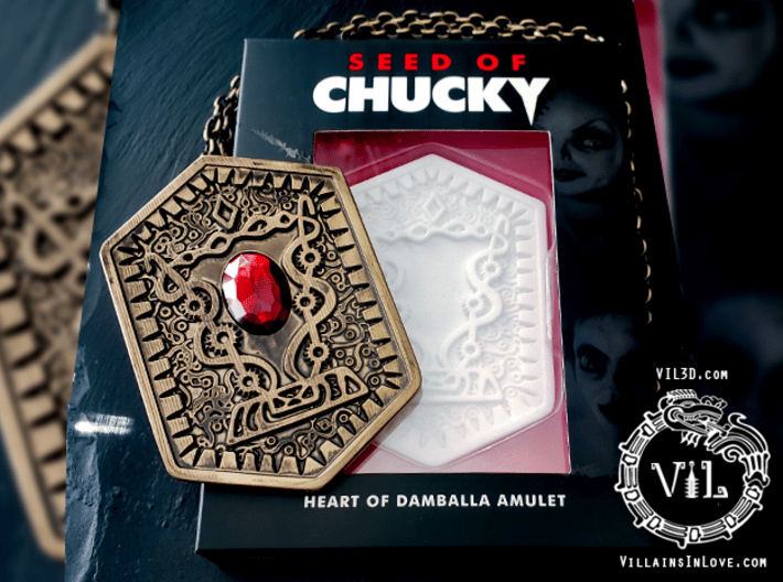 FULL SIZE Damballa Amulet ⛧ VIL ⛧ 3d printed VIL's model was used to create official merchandise.