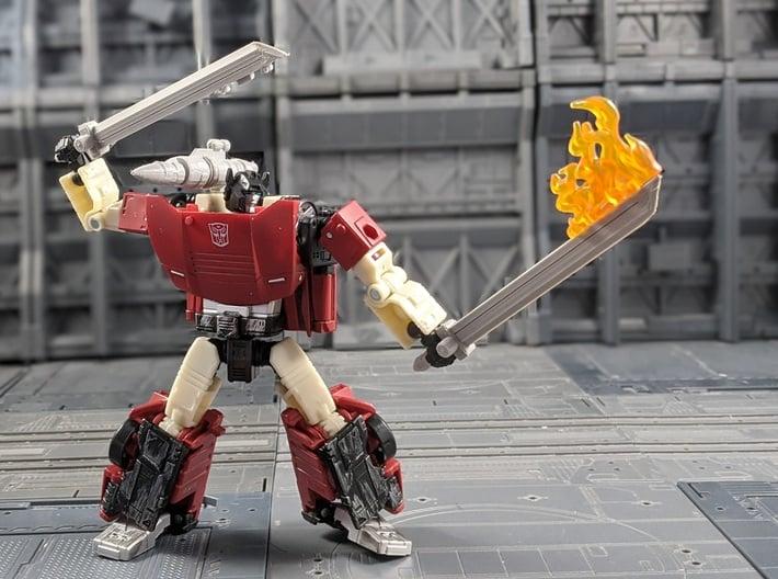 TF Seige Sideswipe Swords 3d printed