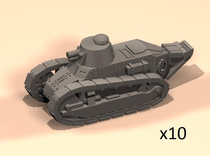 6mm 1/285 Renault FT tanks 3d printed