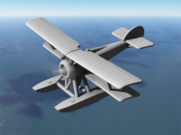 Hanriot HD.2 (late model, various scales) 3d printed Computer render of 1:144 Hanriot HD.2