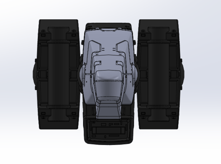 LOGH Imperial Ulfrun 1:3000 (Part 1/2) 3d printed