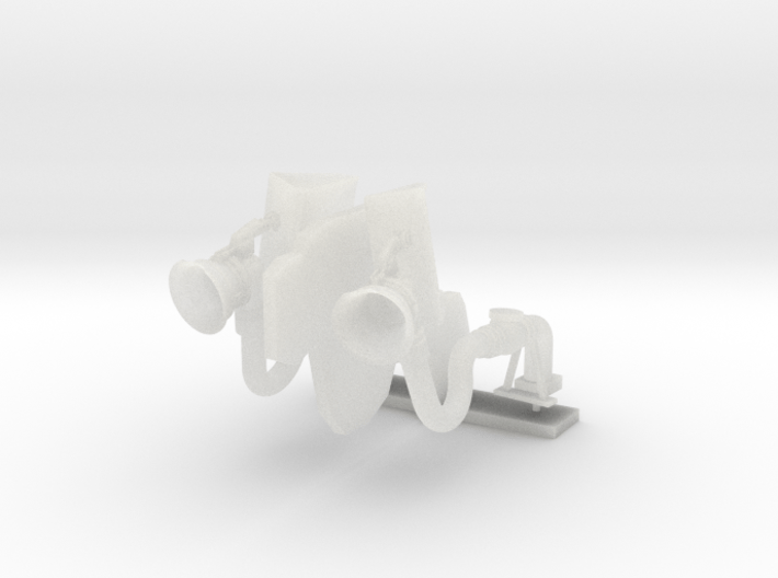 1:96 scale DDG Refuel - Bow of Burke (DDG) 3d printed