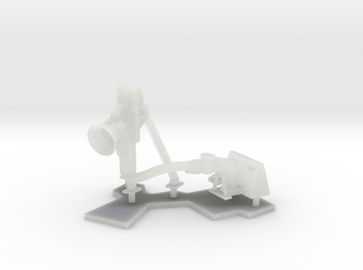 1:96 scale Refuel Port/Left and Mounted stand 3d printed